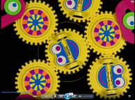 In Baby van Gogh these spin for 12 seconds, a risk for anyone with pattern sensitivity