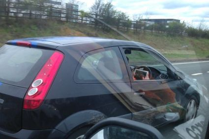 This photo in the UK's Daily Record newspaper led to the identification of the driver.