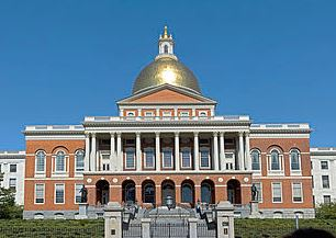 The Massachusetts State House in Boston, where a bill was filed to investigate video game seizures as a public health issue.