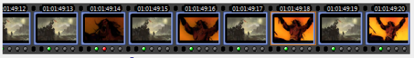 Alternating images in the video sequence create a flash effect.