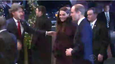 Arrival of the royal couple in New York, as shown on the CBS Evening News.