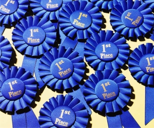 RIBBONS-BLUE-1ST-PLACE-ROSETTES