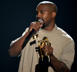 Kanye West accepts the Video Vanguard Award during the 2015 MTV Video Music Awards on August 30 in Los Angeles. (Photo by Kevin Winter/MTV1415/Getty Images For MTV)