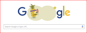 Google's landing page during the Olympics is featuring doodles that promote fruit-themed games.